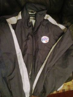 2 Rare Miller Beer Girl in the Moon Logo SHirtJacket High Life,Lite