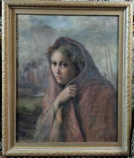 Antique Oil on Board, purchased at Eaton's