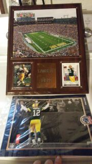 NEW Packers Plaque & Aaron Rodgers Photo