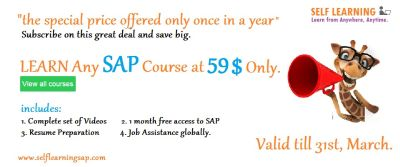 3 Days Left Learn ANY SAP Course now at 59 $ Only - Valid till 31st, March only