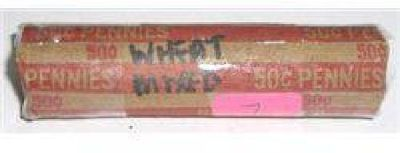 Roll of Wheat Pennies 50 Total *Unsearched Mixed Dates & Grades* Roll Came Out