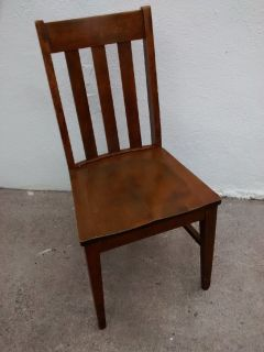 Antique Mission Style Wooden Chairs