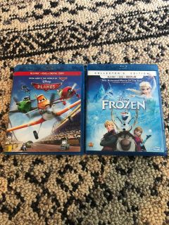 Planes or Frozen Blu-ray and DVD sets