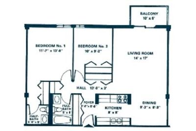 Apartment for rent in Waukegan. $850/mo