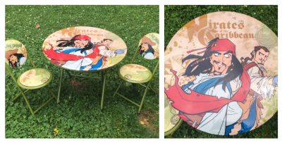 Pirates of the Caribbean Kids Table & Chair Set, good condition **READ PICK-UP DETAILS BELOW