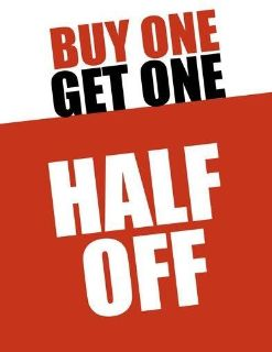 Buy one of my clothing items and get the 2nd half off!