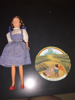 wizard of oz mini plate and doll
