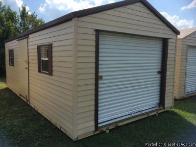 12x24 SHED, ROLL UP AND SIDE DOOR