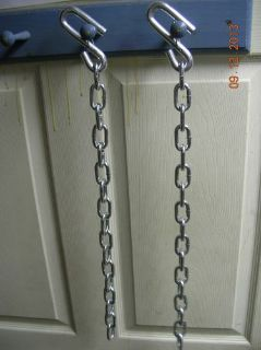 "Find 24"" trailer safety chains w/ locks on s hooks (2 pcs) chain for 7,000# trailer motorcycle in Pine Grove, Pennsylvania, United States, for US $16.00"