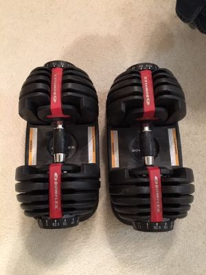 BowFlex Dumbells with DVD & instructions