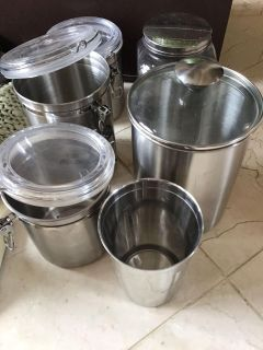 Metal canisters sold together