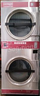 Coin Operated Continental Commercial Stack Dryer 30LB 120V DJ2X3AA Stainless Steel Used
