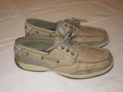 SPERRY TOP SIDER BOAT SHOES Three Eye Women Size 7.5 Tan Color
