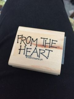 Stampin Up From the Heart Stamp