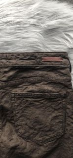 Olive Green Skinny Jeans from Anthropologie