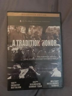 A tradition of honor dvd new