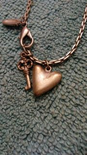 Fossil Heart Necklace