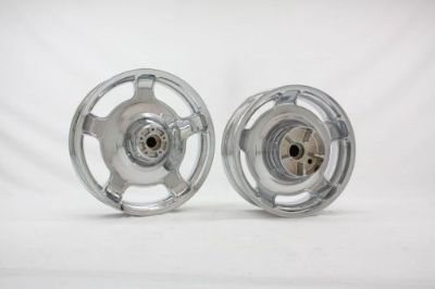 Purchase 2009-2013 Harley FLHX Street Glide Airstrike Chrome Wheels Rims Set ft 18 r 16 motorcycle in Warminster, Pennsylvania, United States, for US $585.00