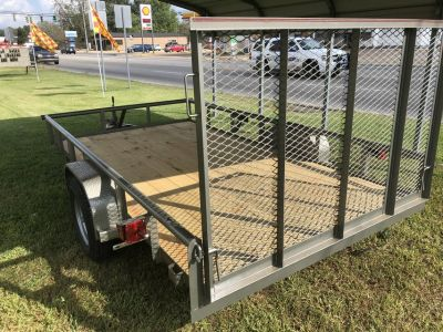 2018 77x12 Pipe Top Utility Trailer