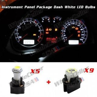 Buy Super White LED 12V Bulbs Kit For 88-91 Toyota Corolla Instrument Cluster motorcycle in Milpitas, California, United States