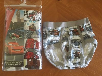 Disney Cars 2T-3T Boys Underwear