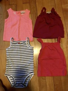 9 Month summer tank top lot