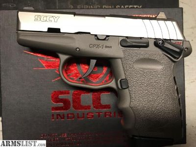 For Sale: SCCY CPX-1 9mm CPX-1TTSG Grey Stainless
