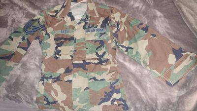 Size small us air force army camo jacket
