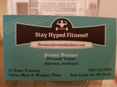 Personal Training: In home, at gym or online & meal prep