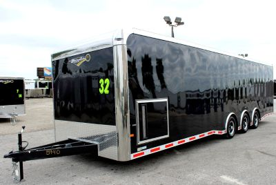 2020 32' Millennium Black Enclosed Trailer, Spread Tri Axle