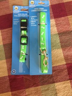 Size small dog collar and matching leash