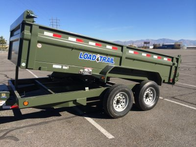 Army Green Dump Trailer