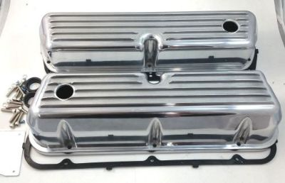 Purchase SB Ford SBF Finned Polished Aluminum Tall Valve Covers W/ Gaskets 289 302 351W motorcycle in Chatsworth, California, United States, for US $89.99