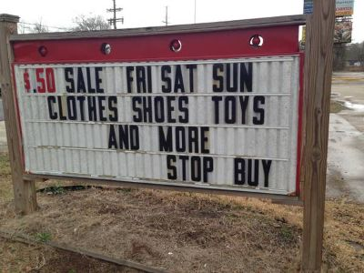 $.50 sale  Fri, Sat and Sun (denham springs)