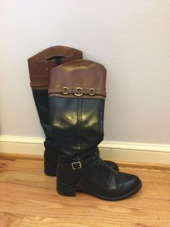 Pleather riding boots, size 6.5