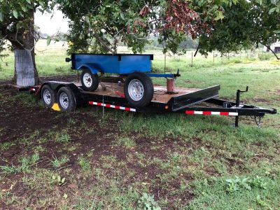 2018 20' Flat Bed Trailer Plans Changed need to sell