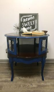 Refinished Vintage Round Table