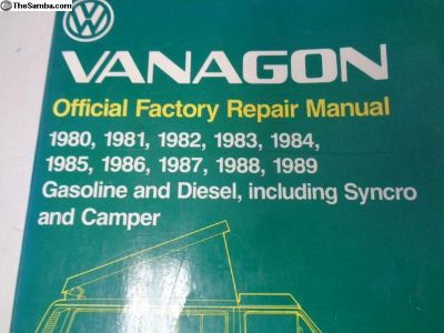 Vanagon Shop Manual