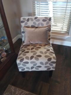 Flora Fabric Accent Chair