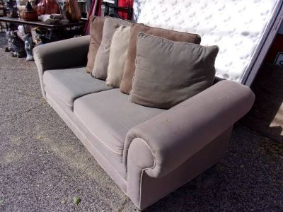Two Cushion Sofa With Large Pillows