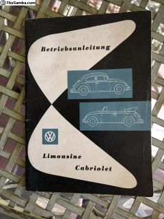 NOS 1-59 VW Bug owners manual