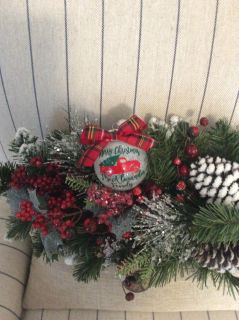 Merry Christmas personalized Red Truck ornament