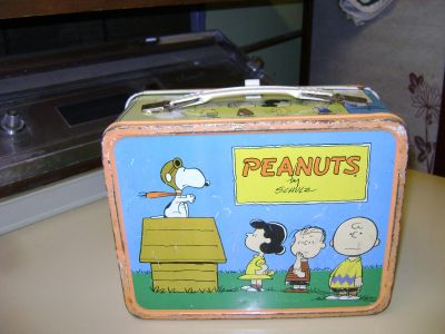 Peanuts Flying Ace Metal Lunch Box