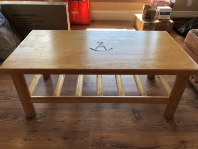 Pine Coffee Table with End Tables