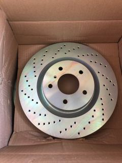 Brembo drilled front rotors for 2004 Infiniti G35 coupe 6MT (35629)