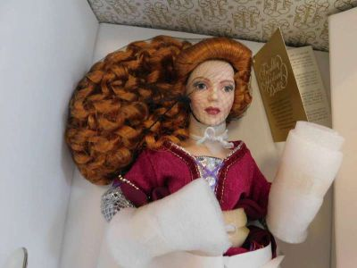 New in Boxes! Franklin Mint Porcelain Dolls