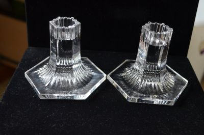 Louis Comfort Tiffany Crystal candle sticks