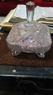 Crystal Dish Antique,the real thing over 80 yrs or older