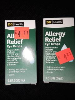 NEW! ALLERGY RELIEF EYE DROPS