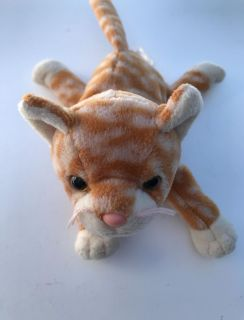 TY Beanie Baby - AMBER the Gold Tabby Cat (7.5 inch)